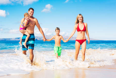 islands in the sky: Happy Family on the Beach