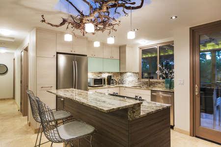 Moderne Keuken Interieur Stockfoto
