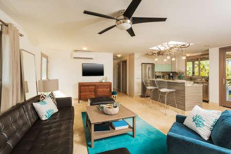 Living Room in Contemporary Modern Home, Interior Design photo