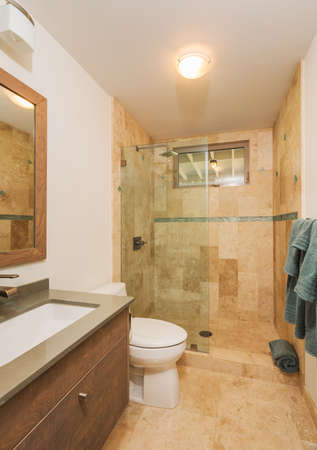 bathroom wall: Bathroom in Contemporary Home, Interior Design