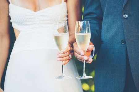 Wedding Couple Toast photo