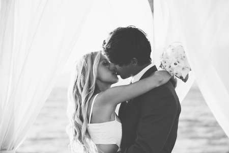 Beautiful Wedding Couple Embracing photo
