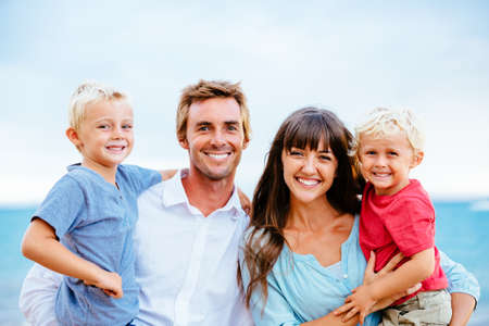 Happy Young Family Stock Photo