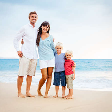 Portrait of Happy Young Family Stock Photo - 32902275