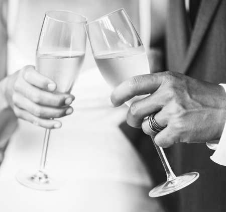 brindisi champagne: Wedding Champagne Toast