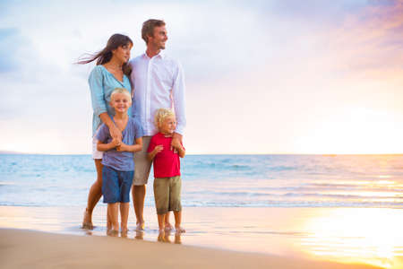 fit: Happy Young Family Stock Photo
