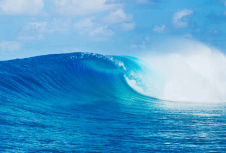 epic: Blue Ocean Wave, Epic Surf Stock Photo