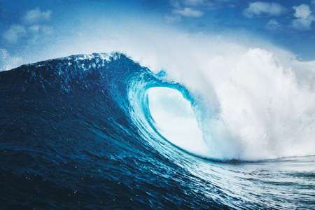 Blue Ocean Wave Epic Surf Stock Photo