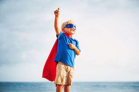 スーパー ヒーローの子供 写真素材