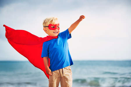 Супер Герой Kid Фото со стока
