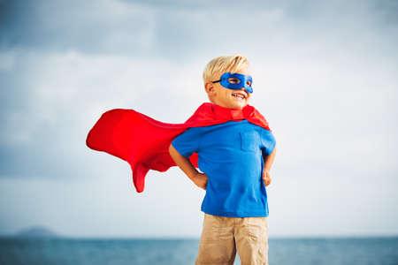 children background: Superh�roe Kid Foto de archivo