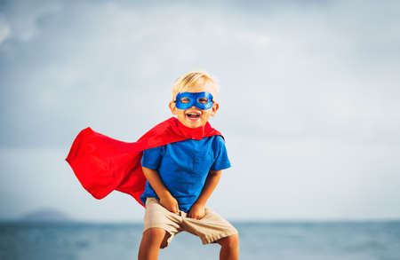 Superhéroe Kid Foto de archivo