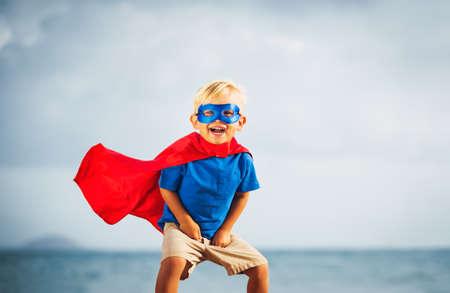 lifestyle: Superhéroe Kid Foto de archivo