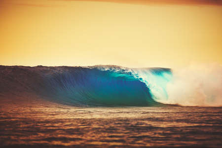 epic: Amazing Ocean Wave Breaking at Sunset, Epic Surf