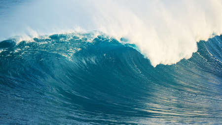 power giant: Powerful Blue Ocean Wave