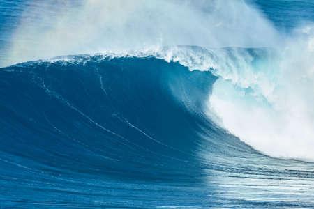 ocean wave: Giant powerful blue ocean wave Stock Photo