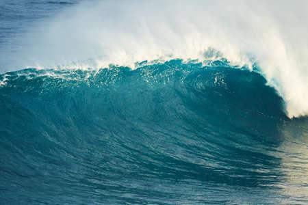 shorebreak: Powerful Blue Ocean Wave