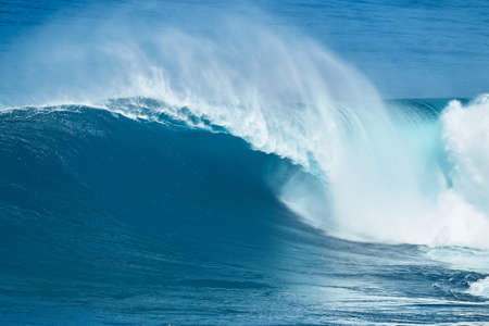 power giant: Giant powerful blue ocean wave Stock Photo