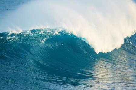 Powerful Blue Ocean Wave