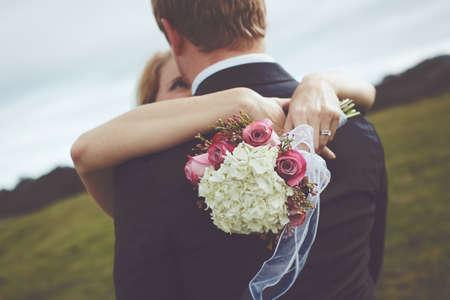 Gelukkige paar net getrouwd