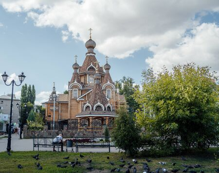 The Church of the Christian Church is a monument of Russian spiritual and religious architectural tradition and Orthodoxy. Stockfoto - 129467017