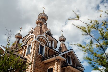 The Church of the Christian Church is a monument of Russian spiritual and religious architectural tradition and Orthodoxy. Stockfoto