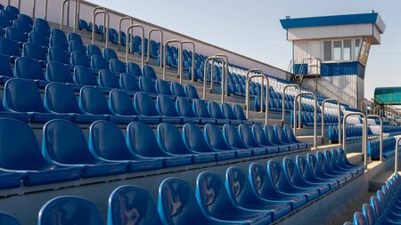 Blue Seats In A Row Imagens