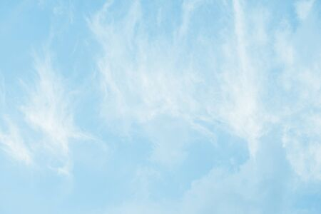 The texture of the beautiful blue sky with white clouds