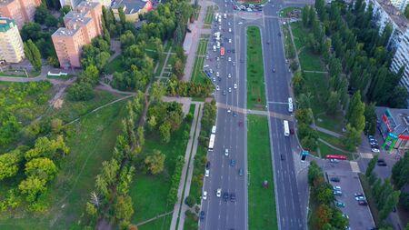 4k time lapse footage of Top View of city blocks Banco de Imagens