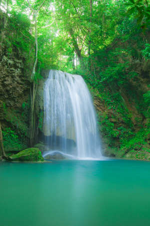 Deep forest waterfall in Kanjanaburi Thailand Stock Photo - 16657676