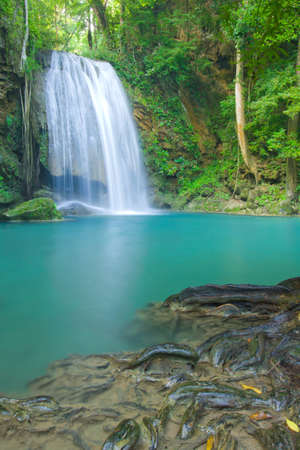 Erawan waterfall National Park Stock Photo - 16657672