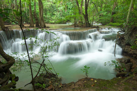 Waterfall at Kanjanaburi Thailand photo