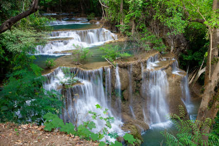 Huay Mae Kamin Waterfall National Park at Kanjanaburi Thailand Stock Photo - 17137560