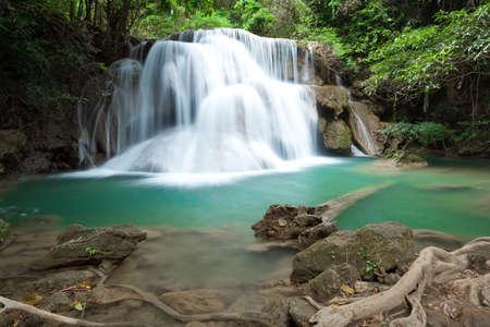 Big waterfall at Huay Mae Kamin waterfall National Park Kanjanaburi Thailand Stock Photo - 17137557