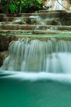 kanchanaburi: Deep forest waterfall in Huay Mae Kamin Kanjanaburi Thailand