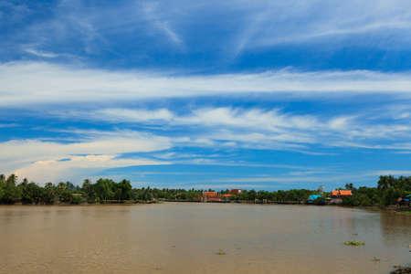 Ampawa floating market Stock Photo