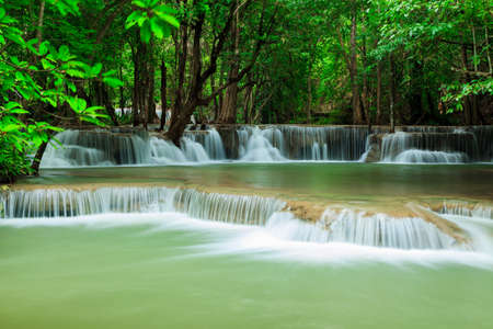 wonderful thailand: Deep forest waterfall at Huay Mae Kamin waterfall National Park Kanjanaburi Thailand