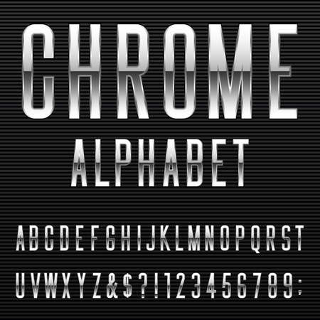 metal steel: Alphabet Font.