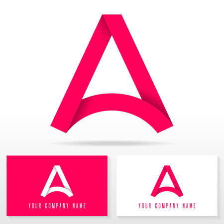 business cards: Letter A icon design template elements Illustration