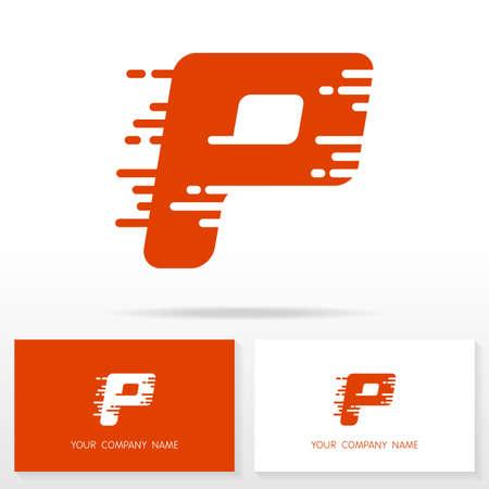 p illustration: Letter P logo icon design template elements Illustration. Letter P logo icon design vector sign. Business card templates. Illustration
