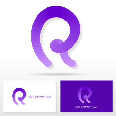 r: Letter R  icon design template elements Illustration. Letter R  icon design vector sign. Business card templates.