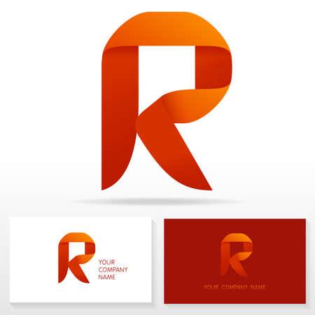 r: Letter R logo icon design template elements Illustration. Letter S logo icon design vector sign. Business card templates.
