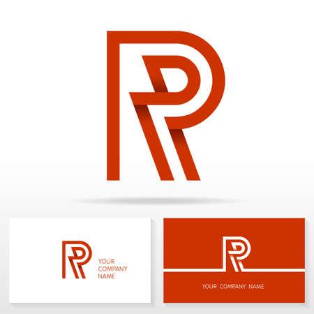 logo ordinateur: Lettre R logo icône éléments de modèle de conception Illustration. Lettre de logo icône du signe vecteur de conception. modèles de cartes d'affaires.