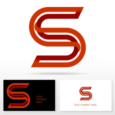 Letter S logo icon design template elements Illustration. Letter S logo icon design vector sign. Business card templates. Çizim