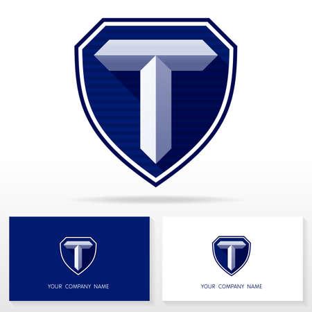Letter T logo icon design template elements Illustration. Letter T logo icon design vector sign. Business card templates. Illustration