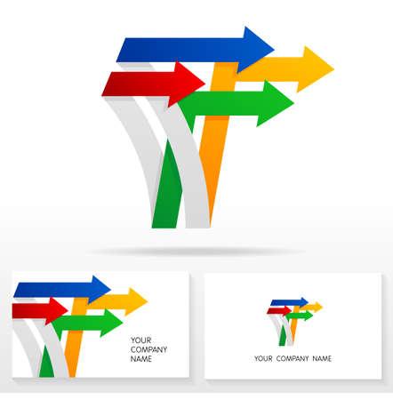 business letter: Letter T logo icon design template elements Illustration. Letter T logo icon design vector sign. Business card templates. Illustration