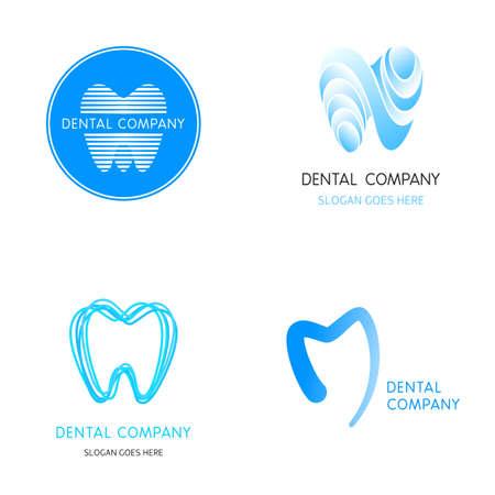 diente: Plantillas dentales. Dientes de vectores de fondo. Un conjunto de icono dental elementos de plantilla de dise�o se�ales vectoriales abstractos