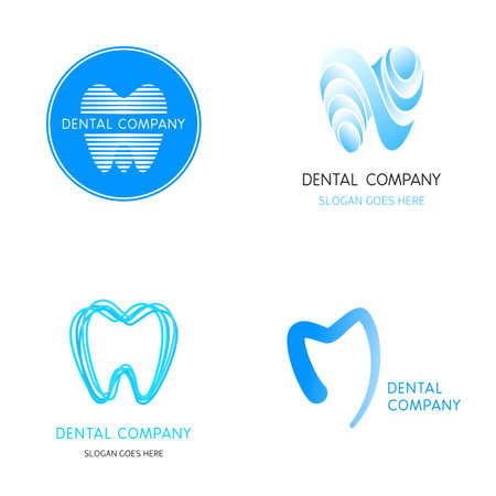 Dental templates. Abstract vector teeth. A set of dental  icon design template elements abstract vector signs
