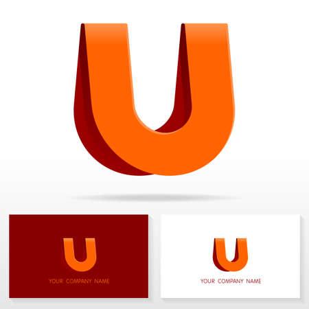 abstract logos: Letter U logo icon design template elements Vector Illustration. Letter U logo icon design vector sign. Business card templates. Illustration