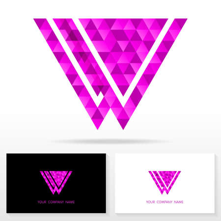 logo marketing: Letter W logo icon design template elements Illustration. Letter W logo icon design vector sign. Business card templates.